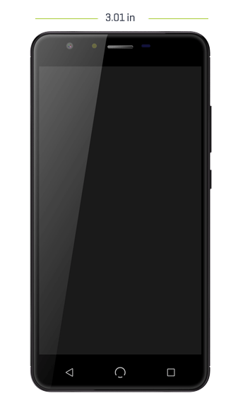 X5 cellphone front dimensions